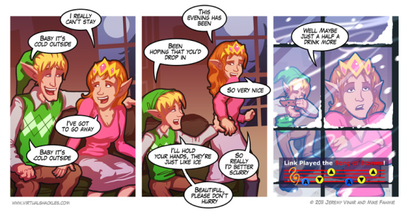 Virtual Shackles - Zelda - It's Cold Outside - Christmas - Link - Zelda - Comic