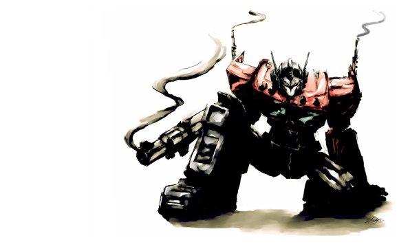 Optimus Prime - Watercolor - Art