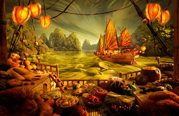 Carl Warner - Foodscapes - Chinese-Junk