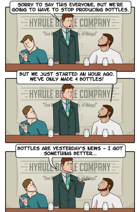 Last Day at Hyrule Bottle Factory - Julia Lepetit and Andrew Bridgman- Comic