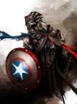Daniel Kamarudin - Medieval Avengers - Captain America