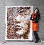 Hong Yi - Jay Chou Coffee Portrait - Red - Art