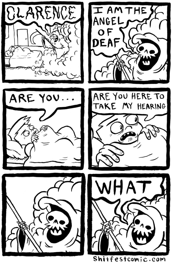 Shitfest Comics - Angel of Deaf - Webcomic - Humor
